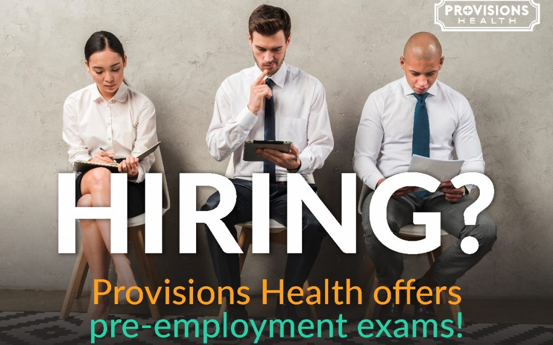 Hiring? We offer pre-employment exams!